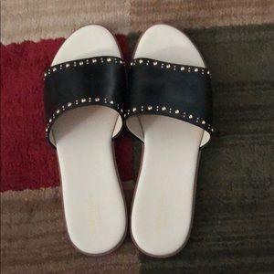 Sandals (Black w/ gold studs)